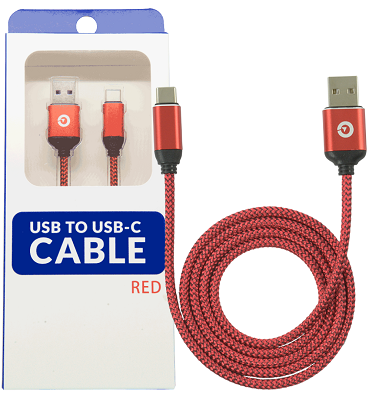 Image For Red USB-C to USB Cable