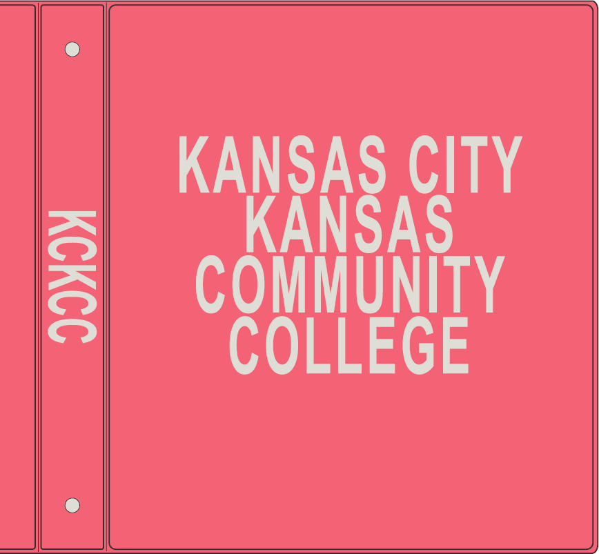 Cover Image For KCKCC Binders 1""