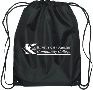 Cover Image For KCKCC Drawstring Black Bag