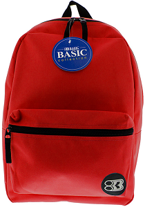 "Image For Bazic 17"" Red Backpack"