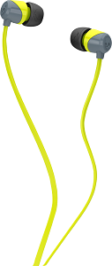 Image For Skullcandy Jib In-Ear Earbuds - Gray/Lime