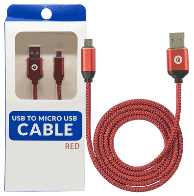 Image For Red Micro USB to USB Cable