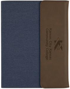 Cover Image For Navy/Brown Junior Tri-fold Porfolio