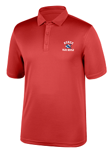 Image For Red KCKCC Blue Devil Carbon Polo