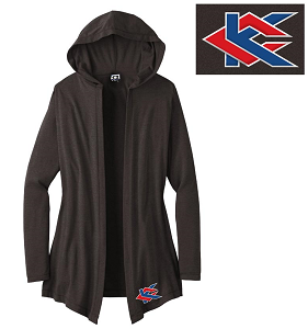 Image For Black Hooded Cardigan (2xL)