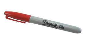 Image For Fine Red Sharpie