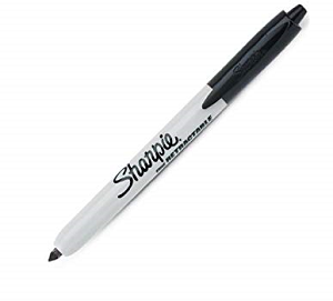 Image For Sharpie Black Fine Retractable