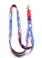 Image For 1/2in KCKCC Blue Devil Lanyard
