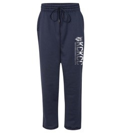 Cover Image For Navy KCKCC Open Bottom Sweat Pants