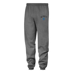 Cover Image For Gray Elastic Bottom KCKCC Blue Devil Sweat Pants