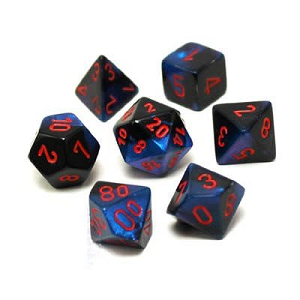 Image For Gemini Royal Starlight and Red Dice Set