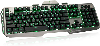 Cover Image for Black/Gray IOGEAR Kaliber Gaming HVER Aluminum Keyboard