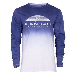 Cover Image For Kansas BlueDevils Navy Long Sleeve Tee