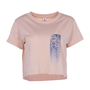Image For Pink Blue Devils Womens Short Sleeve Crop Top