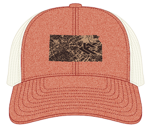Image For Kansas Red/Off White Trucker Style Hat