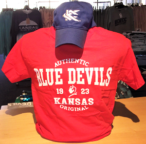 Image For Blue Devils Royal Cap/Red Tee Combo Set