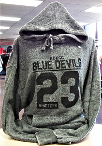 Image For Blue Devils 23 Charcoal Reverse Hoodie