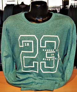 Image For 23 Green Long Sleeve Crew