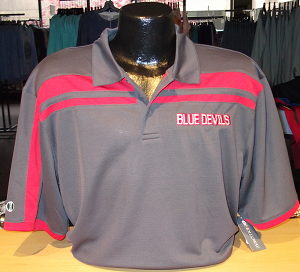 Image For Blue Devils Stripped Polo