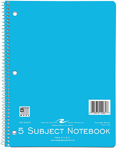 Image For American Made Roaring Springs 5 Subject Notebook