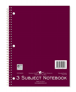 Image For American Made Roaring Springs 3 Subject Notebook