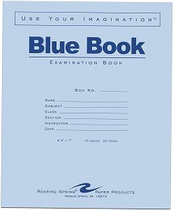 Image For Blue Exam Book 32 pages