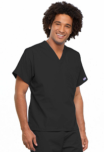 Image For Black 4xL Scrub Top 4777