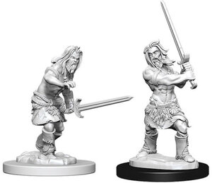Image For Human Male Barbarian Deep Cuts 2pk Unpainted