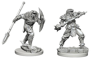 Image For Dragonborn Male Fighter with Spear 2pk Unpainted