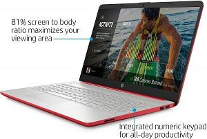 "Cover Image For HP 15.6"" Scarlet Red Pentium Laptop"