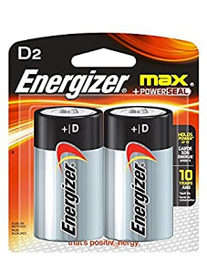 Image For Energizer Max D 2 Pack - Clearance
