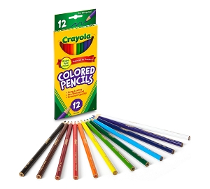 Image For Crayola 12 Pack of Colored Pencils