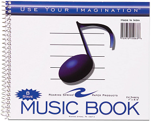 Image For 8 Stave Music Book